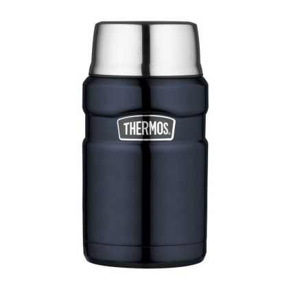 Термос для еды с ложкой 0.71L Thermos Stainless King Food Flask, Midnight Blue, 173030