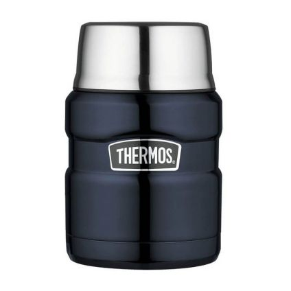 Термос для еды с ложкой 0.47L Thermos Stainless King Food Flask, Midnight Blue, 173020
