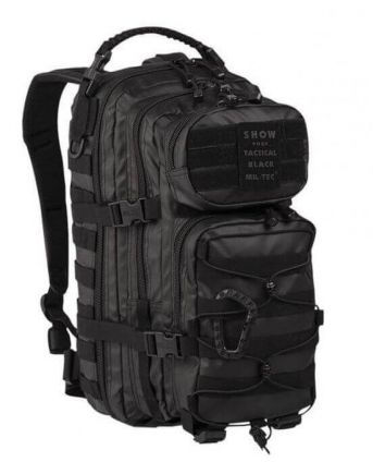 актический рюкзак us assault pack sm tactical black mil-tec 20 l 14002088