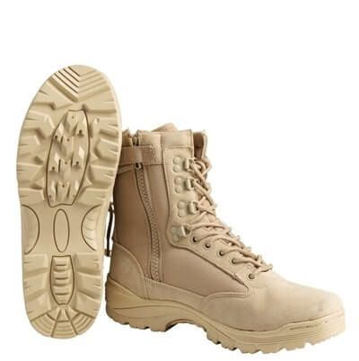 Ботинки Mil-Tec Tactical Boot Zipper YKK Khaki 41 12822104